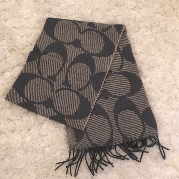 Coach Accessories - Wool & Cashmere Coach scarf with Coach logo